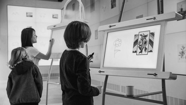photo of the exhibition draw to art