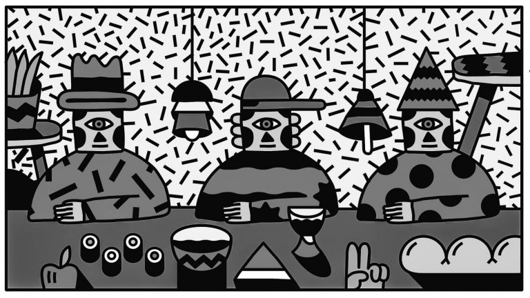 artwork for Marco Oggian performance on illustration